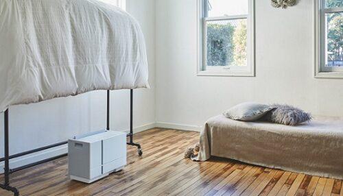 衣類乾燥除湿機がコンパクトで、下から乾かすから場所をとらない