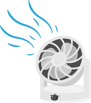 サーキュレーターは部屋中の空気を循環できるかが重要