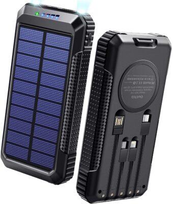 【DeliToo】ソーラーチャージャー モバイルバッテリー 40800mAh