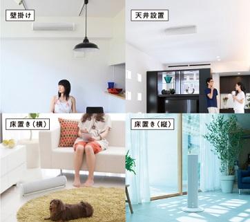 【家庭に最適な場所に設置できる】4通りの設置方法