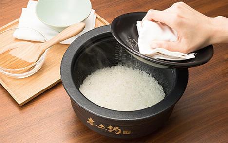 本土鍋と280℃の火力で実現するご飯のおいしさ