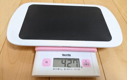 タブレットmimiサイズと重量(やや重い)