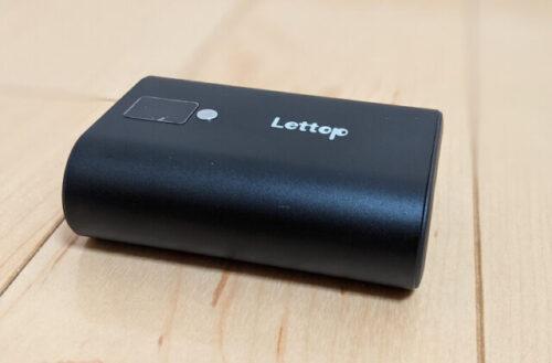 Lettopモバイルバッテリー「持ち運び用と災害時用のどちらにおすすめ?」