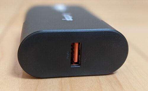 Lettopモバイルバッテリー右側面