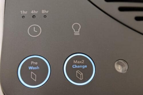 オフタイマーやライトのオンオフボタン、フィルターのリセットボタン